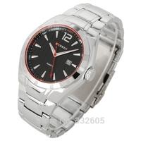 2014 Fashion Brand CURREN 8103 Sliver Full Steel Band Quartz Dress Watch Male Sports Calendar Wristwatch Casual Clock For Mens