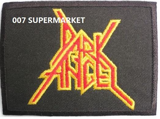 DARK ANGEL Music Band Metal Iron On Patch Tshirt TRANSFER MOTIF APPLIQUE Rock Punk Badge(China (Mainland))