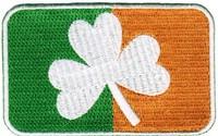 IRISH CLOVER FLAG PATCH iron-on IRELAND embroidered SHAMROCK EMBLEM Badge Applique Wholesale Free Shipping
