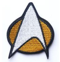 STAR TREK Star Fleet Movie TV Iron On/Sew On Patch Tshirt TRANSFER MOTIF APPLIQUE Rock Punk Badge Wholesale Free shipping
