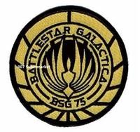 Battlestar Galactica Screen Version BSG-75 Officer Uniform Movie tv Embroidered LOGO Iron On Patch/badge Custom patch