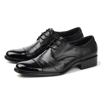 Men's Genuine Leather Business Shoes Men's Flats Luxury Coffee Oxfords Formal Fashion Male Shoes New 2014 LoyalCo Ward Size38-4