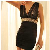 Free Shipping womens summer dresses for 2014 New Fashion sequins dress women sexy Bodycon Mini Women Vest Tank Dresses LR0001