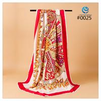 2014 Big Size 140x140cm Fashion Brand Silk Square Scarf Women   Silk Satin Scarves silk Shawl  Print High Quality #002