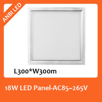 Hot sale ultra bright 18W led panel,AC85~265V,CE&RoHS,3014 taiwan chip,1800lm,300mm*300mm, cut out 285mm,external driver