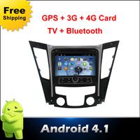 Android 4.1 Car DVD player,GPS Wifi 3G BT Radio camera(optional) parking HDTV detector Video Media radio 2din for hyundai SONATA