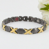 316L Jewelry Special New Design Black-gold Fashionable 5 IN 1 Stainless Steel Bracelet