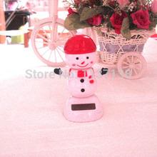 Swing Under Sunshine No Battery Car Decoration Novelty Christmas Gifts Solar Dancing Snowman(China (Mainland))