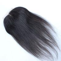 "Medium Part Top Lace Closure Brazilian Virgin Human Hair Straight  4*4 Swiss Lace 8""-20""  Stock Lace Closure Free Shipping"