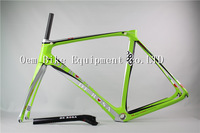 2014 RFM008 De Rosa D2 green color carbon road bike bicycle bike frame racing bike carbon wheelset BB68 free shipping