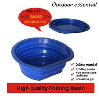 New Camping Water Basin Folding Water Basin Waterproof Outdoor necessary silica folding basin  high-temperature lavatory basin