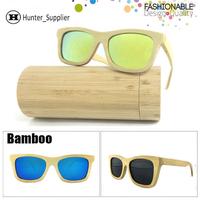 Bamboo Sunglasses Men Polarized Revo Coating Lens Wayfarer Oculos De Sol With Box Wood Eyeglasses Retail and Wholesale ESBM001