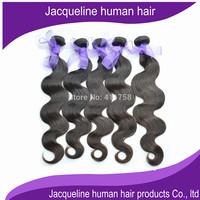 "higher quality natural color body wave virgin human hair Malaysian hair 5 pcs a lot  grade 6A 10"" to 30"" no shedding no smell"
