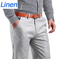 Plus Size 38 New 2015 Men Summer Linen Pants Cotton Casual Trousers,Breathable,High Quality Men's pants