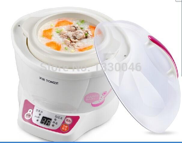 Tonze The baby small power Mini pot ceramic electric cooker porridge pot BB pot Health durable 0.7L DDZ-7B(China (Mainland))