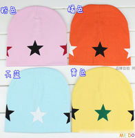 19*19 CM Hat For 6M-3Y Baby , Candy Color 5-Star Baby Hats Cotton Knitted Children Boys Girls Autumn Beanies Caps
