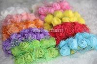 DF003 Mixed Colors PE Artificial Rose Flower wedding Flower Bouquet flowers wedding gift box decoration