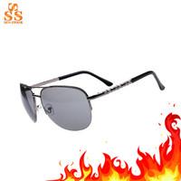 High-end Brand Women Aviator Sunglasses,Fashion Men Half Frame Lunettes De Soleil,Hard Resin Lens Metal Oculos + Box G178-2