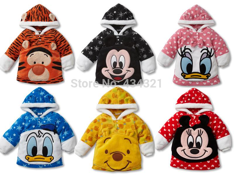 Newest boy/girl Hoodies baby clothing infant character fleece jackets newborn Sweatshirts children outerwear(China (Mainland))