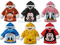 Newest boy/girl Hoodies baby clothing infant character fleece jackets newborn Sweatshirts children outerwear