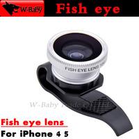 180 Fish eye lens Detachable U Clip fisheye lens for iPhone 4 4s 5 5s 5c for iPad 2 3 Mini,10 pcs External Mobile phone lens