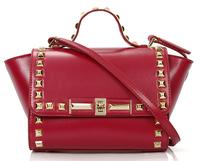 European and American Fashion Women Portable Diagonal Leather Shoulder Bags Brand Designer Ladies Rivet High Quality Handbags
