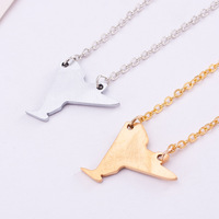 stainless steel New York necklace map jewelry State Charm necklaces pendants free shipping