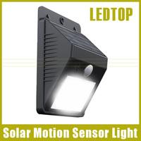 New Arrival 2014  LED Solar Power PIR Infrared Ray Motion Sensor Garden Security Lamp Outdoor Waterproof Light Garden LED Light