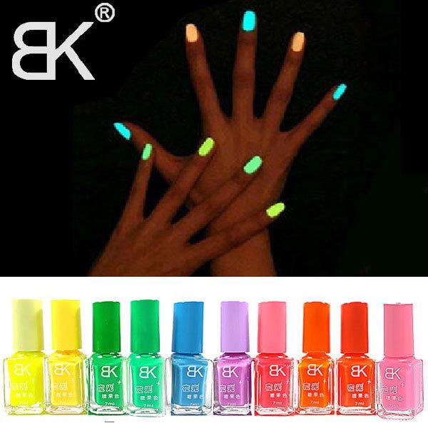 10pcs 2014 New Hot Sale Colors Fluorescent Luminous Neon Glow In the Dark Varnish Paint Nail Art Polish(China (Mainland))