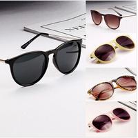 2014 new fashion oculos Vintage Women's Retro Round Eyeglasses Metal thin legs small round frame sun glasses Free shipping