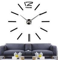 2014 new DIY personalized wall clock wall clock watch big black wall stickers creative clock clock furniture creative supplies