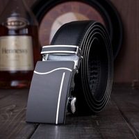 Genuine real leather men's belt for men belt buckles metal , sales brand fashion male black waist belt Y03