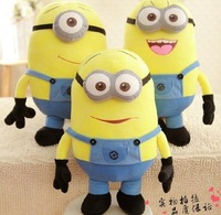 "Despicable me 2 High Quality big minion Movie Plush stuffed Toys 20 inch "" 50cm gifts for kids with 3D Eyes free shipping"