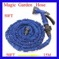 50FT Garden water Hose watering & irrigation pipes with spray gun expandable car hose Garden supplies hoses Garden Reels