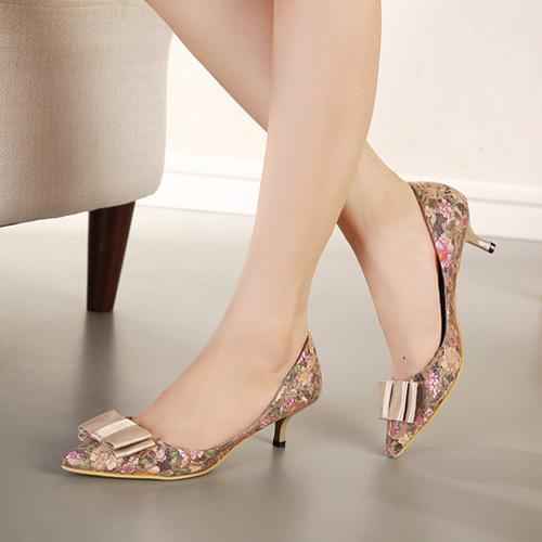 Bowknot Shoes Lady Pumps Shoes Bowknot