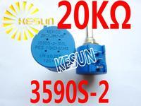 3590S-2-203L 3590S-2 20K OHM 2W 10 Turn Wirewound Potentiometer  x 5PCS FREE SHIPPING