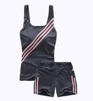 Free Shipping Woman sports shorts running fitness sports set yoga clothes vest shorts tennis ball  running clothes for women