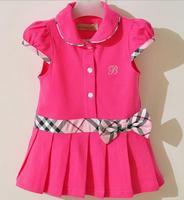 2014 Summer 100%cotton Dress Retail Infant/Baby Girls Brand Polo Dress Children/Kids Princess tennis Dresses Free Shipping