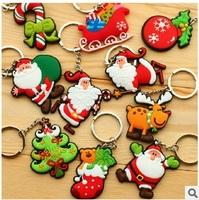 Selling soft PVC keychain, bag ornaments, Santa Claus shape key chains, wholesale