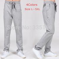 Brand Men Sweatpants Drawstring Multi-pocket Comfy Male Knitted Sweat Pants For Sports/Casual/Jogger L--5XL Plus Size  #JM09549