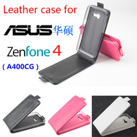 Free Shipping!!! Original High Quality Multi-Colors Flip Cover Leather Case for  ASUS zenfone 4 (A400CG)  Smartphone.New Arrival
