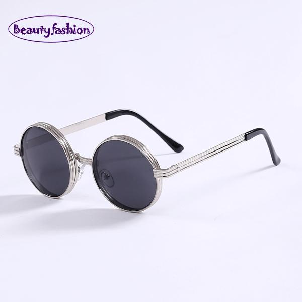 Round Metal Frame Small Cute Fashion Sunglasses Sun glasses Vintage popular 2014 new women men Oculos De sol N330(China (Mainland))