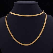 2014 new popular fashion necklace with 18 k gold plating snake lady man necklace love the
