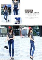 2015 spring new women's denim overalls Korean yards jeans