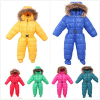 2014 exports of Russian boys and girls out thick jacket jumpsuit 8 colors free shipping