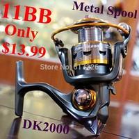 DK2000 11BB metal spool aluminum Origin Germany Design spinning fishing reel,For shimano/ryobi/okuma/daiwa feeder fishing