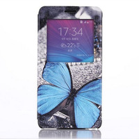 For Samsung Galaxy S5 S4 Ultraslim Case Butterfly Flip Leather Case Back Stand Cellphone Cover free shipping