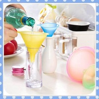 [Amy] free shipping5pcs/lotTransparent candy color funnel size number 5 only practical soy sauce funnel that occupy the home