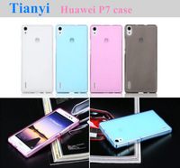 3 pcs/Lot Mobile phone case for Huawei Ascend P7 5.0 inch Quad core smart phone TPU leather stand protective cover