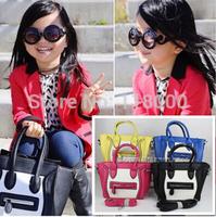 new arrival girls mini 4 colors PU leather motorcycle handbag women mini purse kids fashion bag casual bag